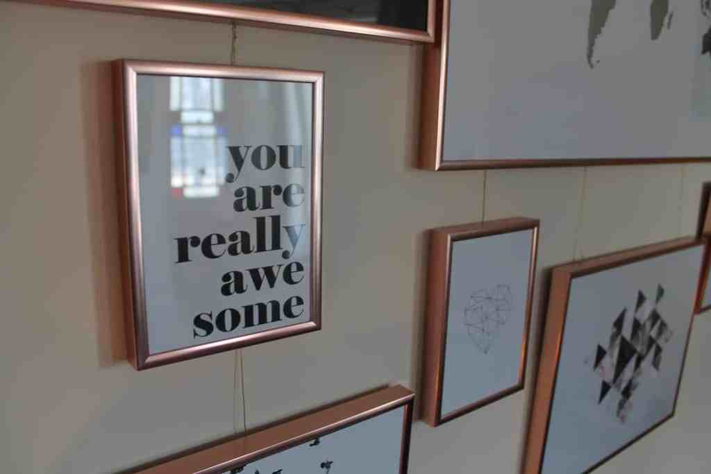 creating a picture wall