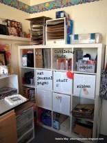 Gotta love the IKEA bookcase – perfect for scrapbookers!
