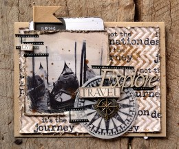 DD Eclectic Stamps Compass - Card 1