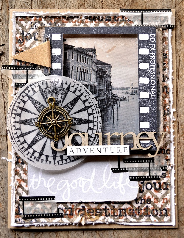 DD Eclectic Stamps Compass - Card 2