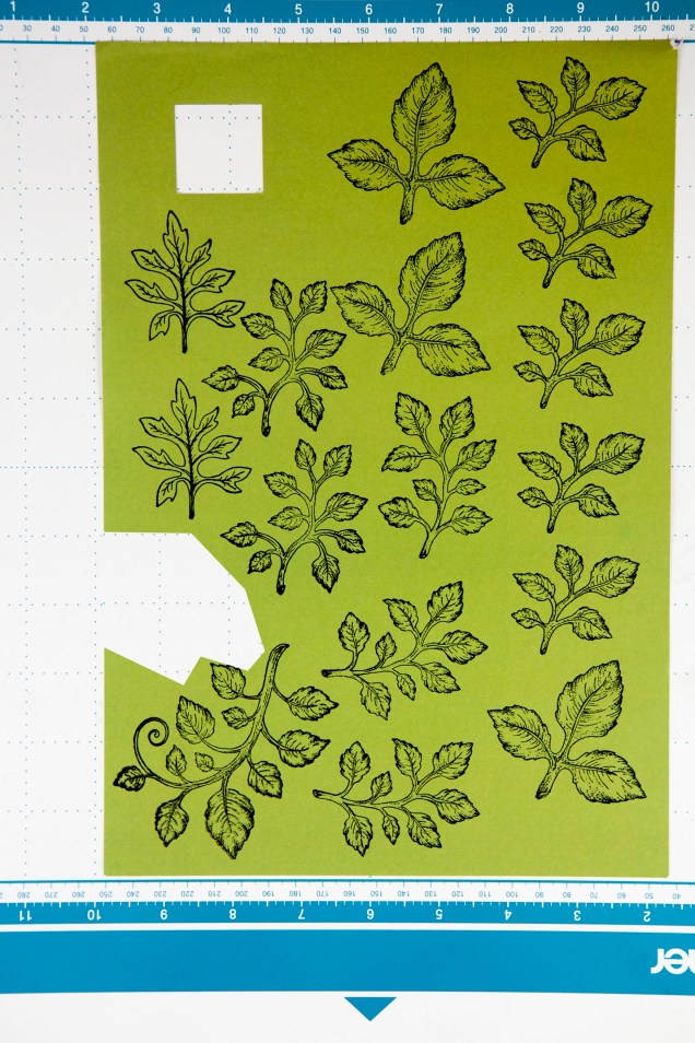Stamped Leaf Images using stamps by Heartfelt Creations