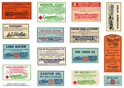 picture regarding Free Printable Apothecary Labels called Freebie: Printable Apothecary Labels S Scheduling
