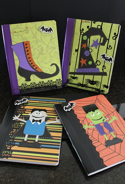 halloween craft idea idea altered composition books scrap booking 2131