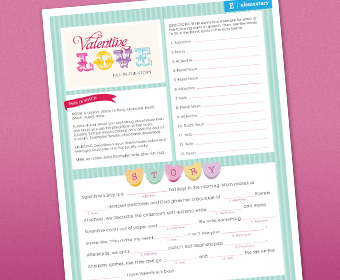 picture about Valentine Mad Libs Printable titled Freebie Valentines Working day Nuts Libs S Reserving