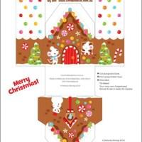 Freebie | 6 Printable Gingerbread House Designs