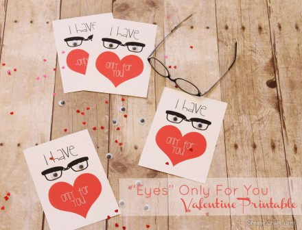 Eyes Only For You Valentine Printable from Create Craft Love
