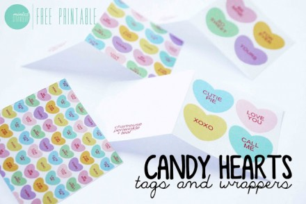 photo relating to Printable Conversation Hearts titled Freebie Printable Interaction Hearts Papers and Playing cards for