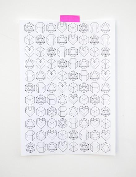 geometric valentine wrap from minieco