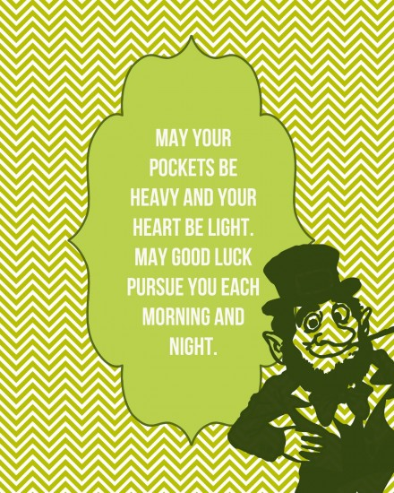 St Paddy Printable from Instant Mommie