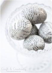 Newspaper Eggs from Craft & Creativity