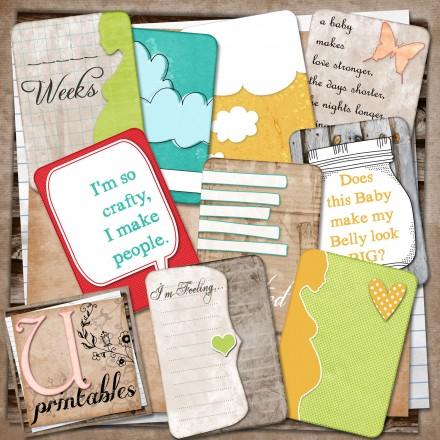 Free Printable pregnancy Journaling cards from U Printables