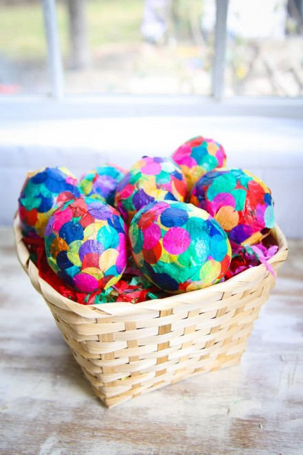 Confetti paper eggs from Heny Happened