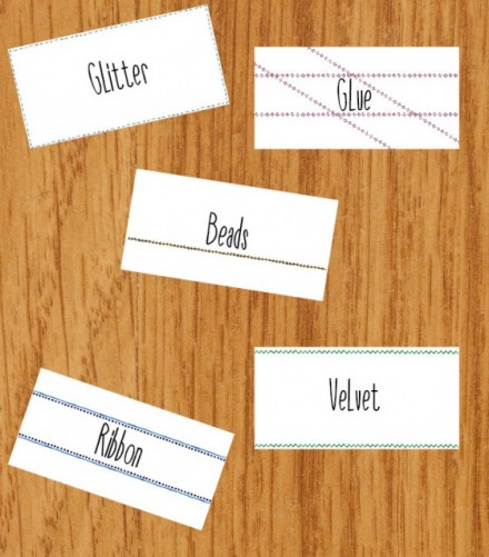 DIY Spring Organization Labels from Creative Market