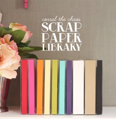 Scrap Paper Library tutorial from Damask Love