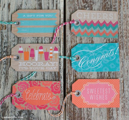 Free Printable Summer Gift Tags from Lia Grifith