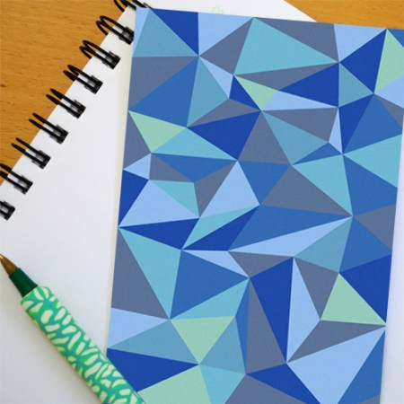 Free printable triangle design greeting card from Creative in Chicago