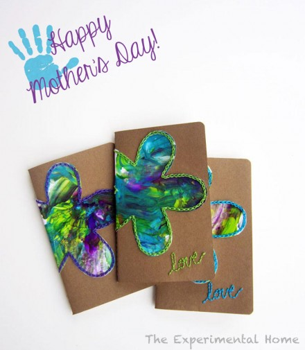 Mother's Day Gift idea Embroidered Notebook by The Experimental Home