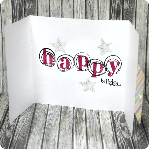 Tuesday Tutorial - Stamped Birthday Card from Craft