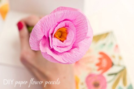 Tutorial diy paper flower pencils scrap booking mightylinksfo