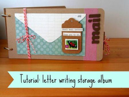 Tutorial - Letter Writing Storage Album by One Crafty Mumma