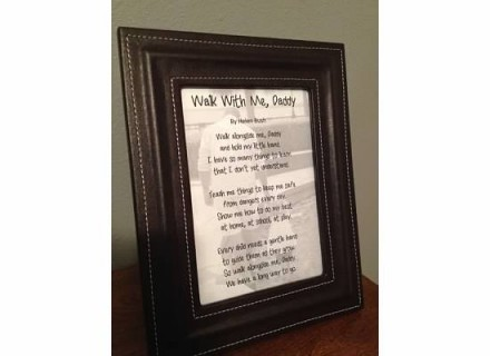 Tutorial - Personalized Framed Walk With Me Daddy Poem for Father's Day