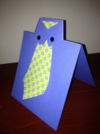 Tutorial- Tie card for Father's Day from Made by Hand Craft Shows