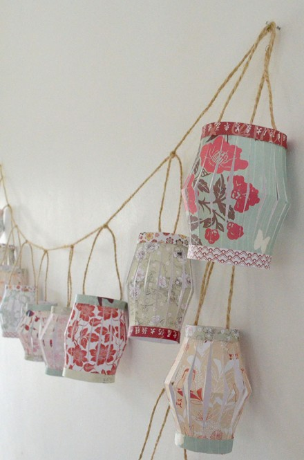 Tutorial - Paper Lantern Garland by AO