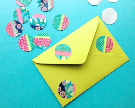 Tutorial - Washi Tape Dots at Omiyage Blog