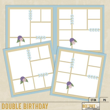 Freebie - Double Page Layered Template from Bee Tree Studios
