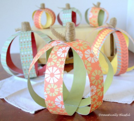 Tutorial - Paper Pumpkin by Domestically Blissful