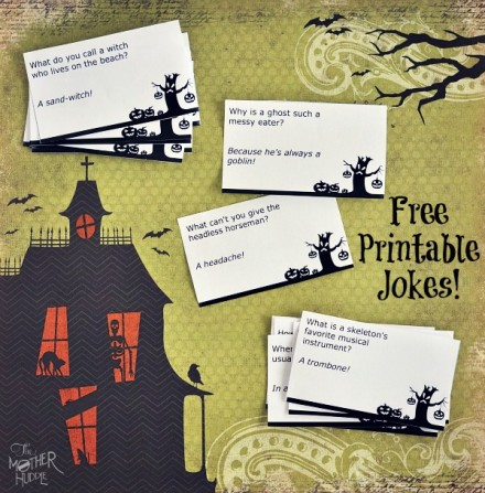 Free-Printable-Halloween-Jokes from The Mother Huddle