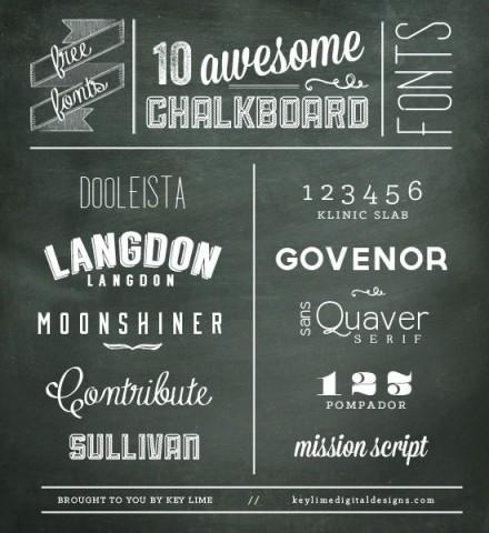 Freebie | 10 Chalkboard Fonts