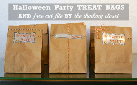 Freebie - Cut File for Halloween Party Treat Bags from The Thinking Closet