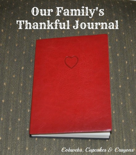 Show & Tell - Thankful Journal by Kelly at Cobwebs, Cupcakes and Crayons