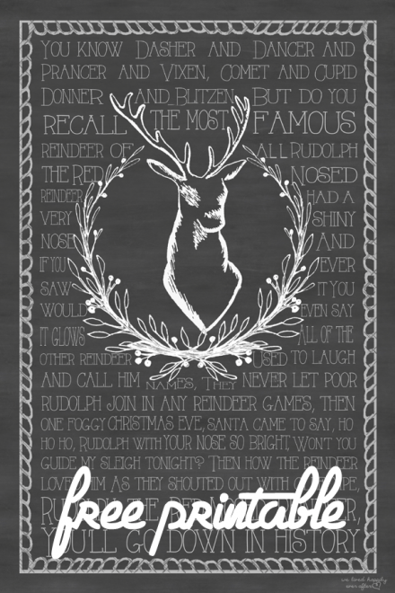 Freebie - Reindeer Poster from They Lived Happily Ever After