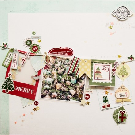 Inspiration du Jour - Be Merry by happiescrappie