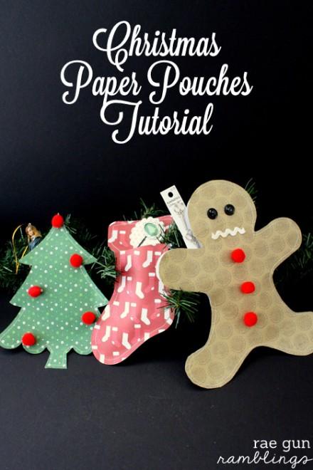 Tutorial - Christmas Paper Pouches by Rae Gun Ramblings