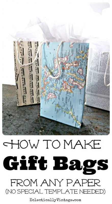Tutorial - Make Gift Bags from Any Paper by Eclectically Vintage