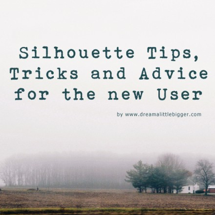 Silhouette Tips and Tricks from Dream a Little Bigger