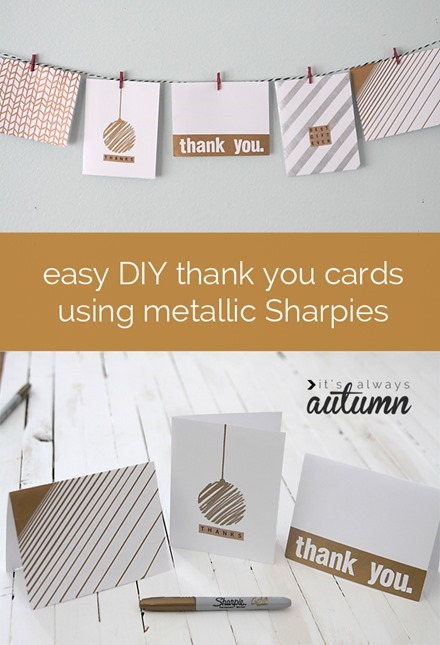 Tutorial - Easy DIY Thank Your Cards by It's Always Autumn