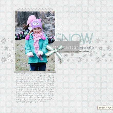 Inspiration du Jour - Snow Bombed by Rachel Alles