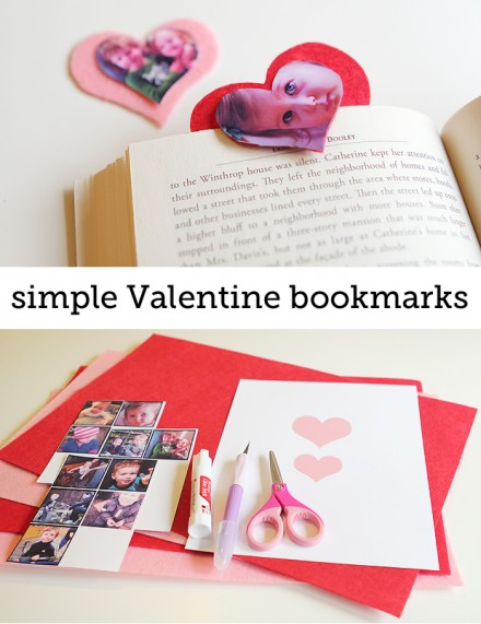 Tutorial - simple Valentine bookmarks from Modern Parents Messy Kids