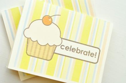 Freebie - Printable Cupcake Birthday Card