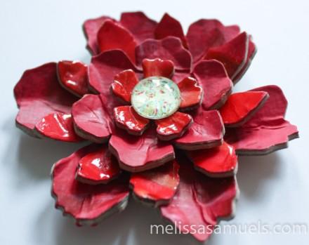 Tutorial - Acrylic Paint Skin Flower by Melissa Samuels