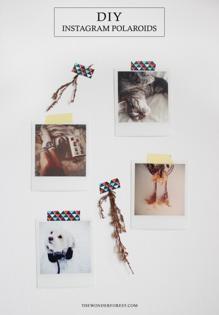 Tutorial - DIY Instagram Polaroids by Wonder Forest