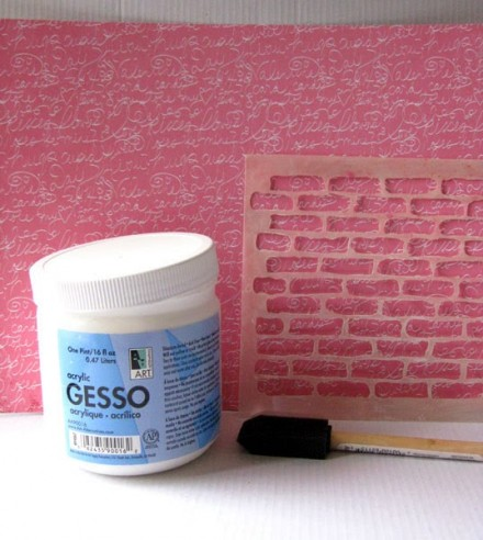 Tutorial - Getting Messy With Gesso at Scrappy Day in Paradise
