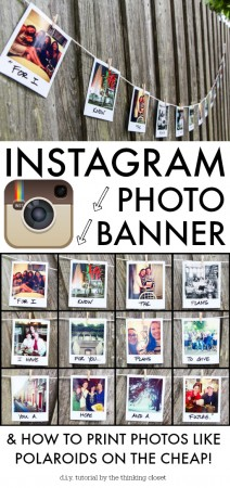 Instagram Photo Banner DIY from The Thinking Closet
