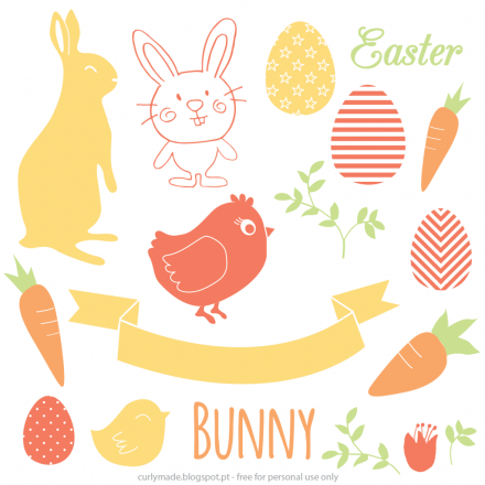 curly made easter vectors