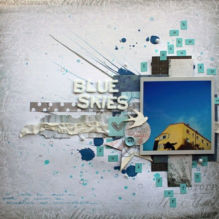 Inspiration du Jour - Blue Skies by paperiliitin