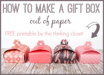 Freebie Amp Tutorial Paper Gift Boxes For Mother S Day